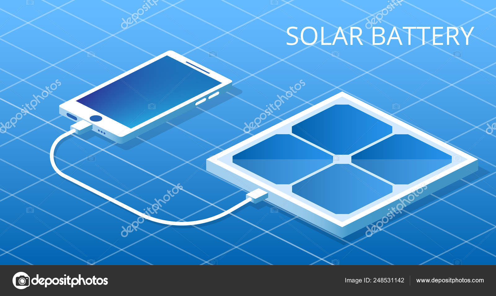 Landing Website Powerbank Working Solar Battery Phone