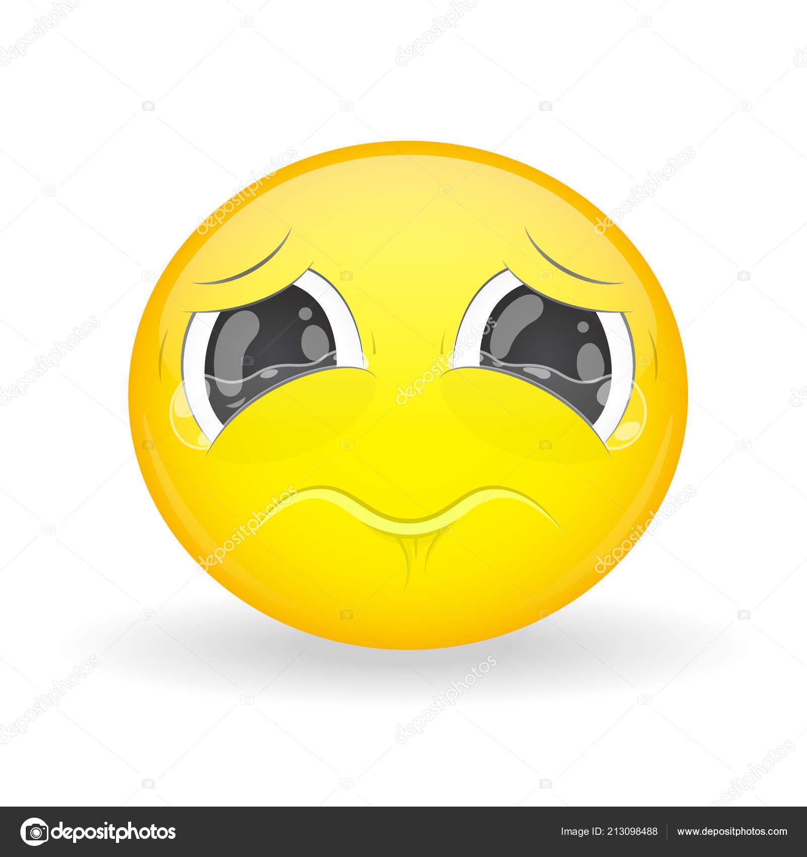 Illustrazione emoji piangente piangendo emoji emozione tristezza