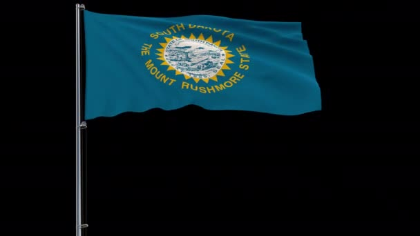 Vlajka Spojených států Jižní Dakota, 4 k prores 4444 záběry s alfa kanálem