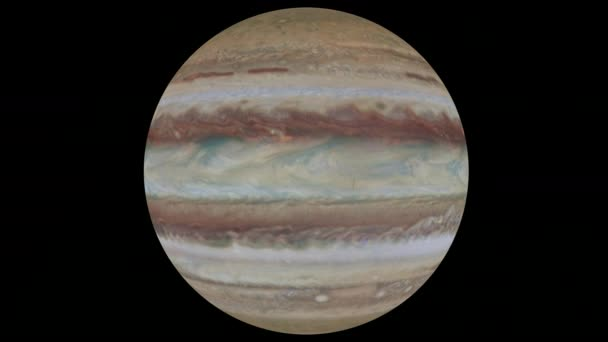 Jupiter on a transparent background, loop, 4k prores with alpha
