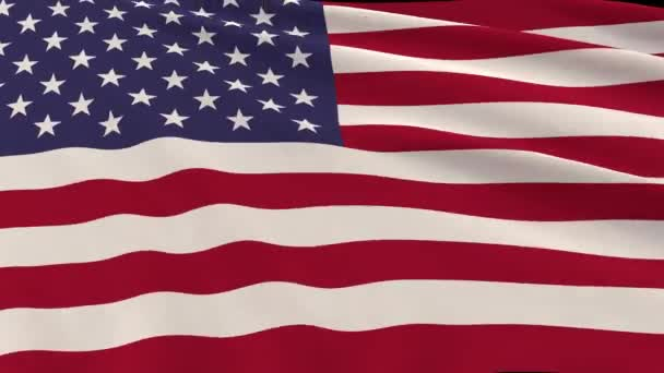 Flag fabric of the United States of America sways in the wind