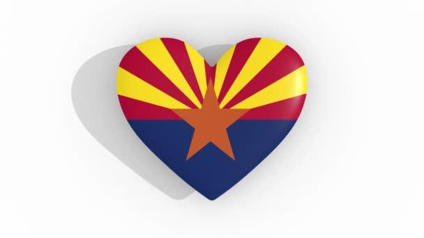 Heart in colors of flag of US state Arizona, loop
