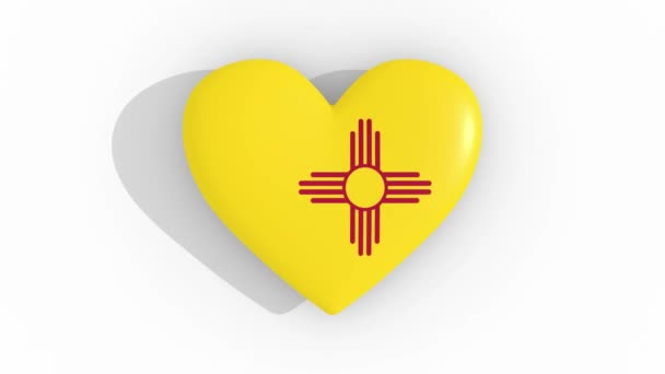 Heart in colors flag of US state New Mexico, loop