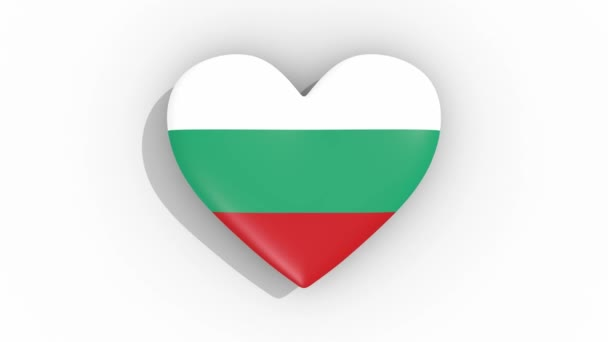Heart in colors of flag of Bulgaria pulses, loop