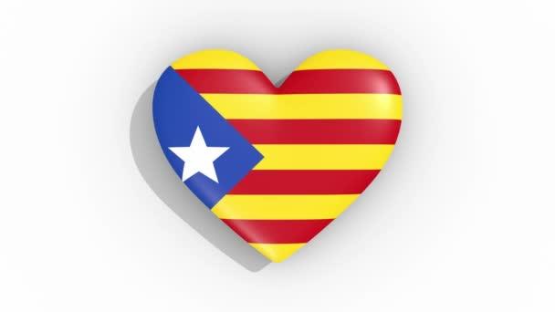 Heart in colors blue Estelada pulses, loop
