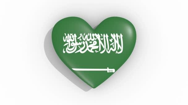 Herz in Farben Flagge saudi-arabischer Pulse, Schlaufe