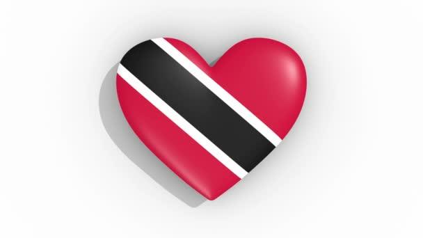 Heart in colors flag of Trinidad And Tobago, loop