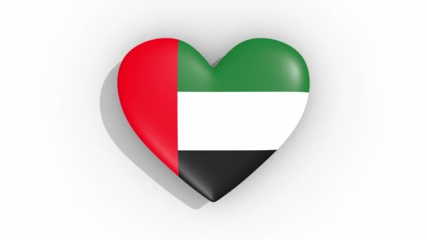 Heart in colors flag of United Arab Emirates, loop