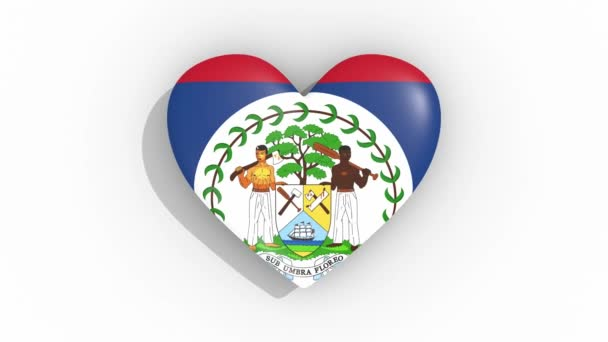 Szív színek impulzusok Belize zászlaja, hurok