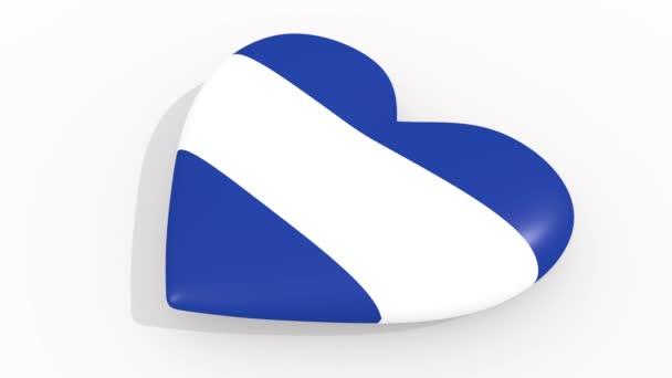 Heart in colors and symbols of El Salvador, loop