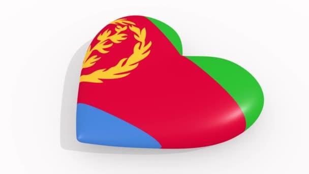 Heart in colors and symbols of Eritrea, loop