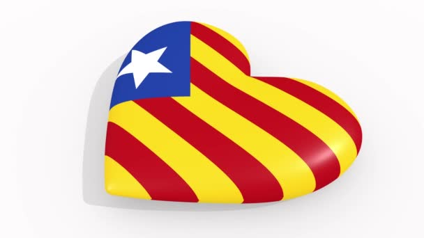 Heart in colors and symbols of Estelada, loop