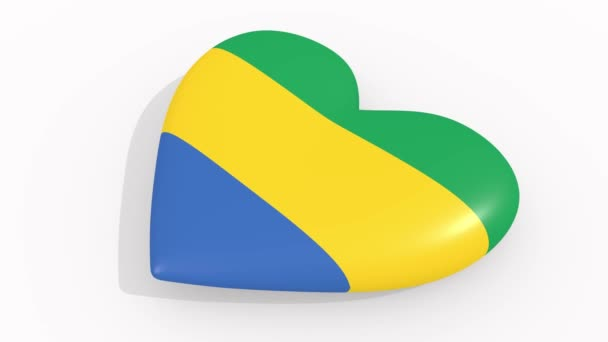 Heart in colors and symbols of Gabon, loop
