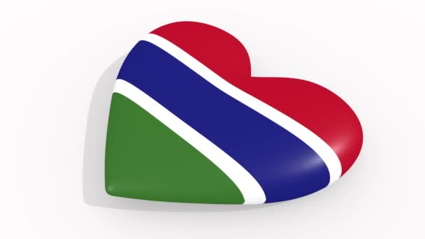 Heart in colors and symbols of Gambia, loop