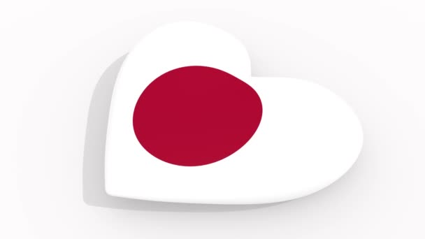 Heart in colors and symbols of Japan, loop
