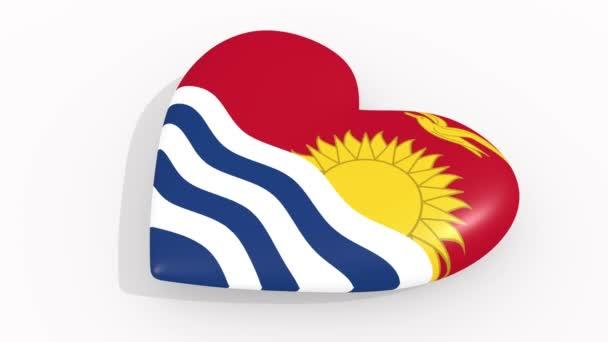 Heart in colors and symbols of Kiribati, loop