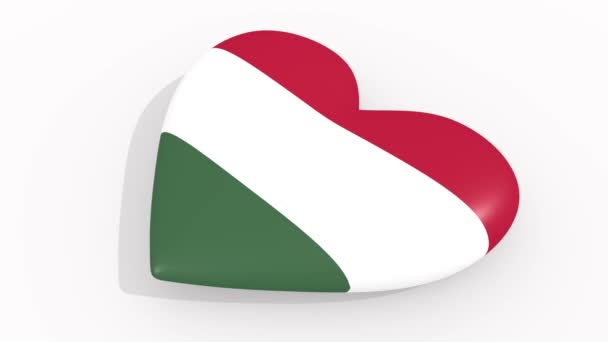Heart in colors and symbols of Hungary, loop