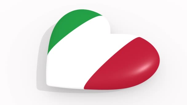 Heart in colors and symbols of Italy, loop