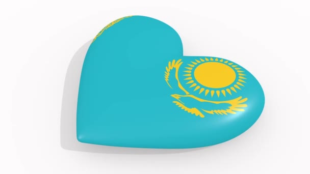 Heart in colors and symbols of Kazakhstan, loop