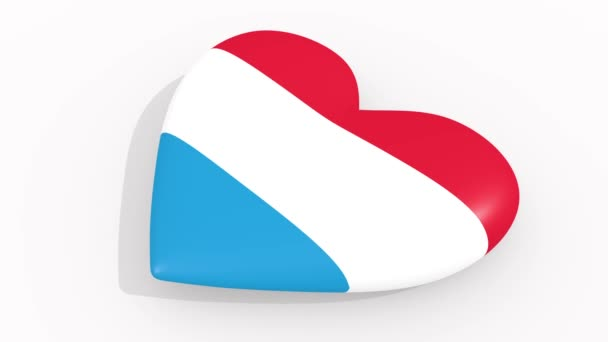Heart in colors and symbols of Luxembourg, loop