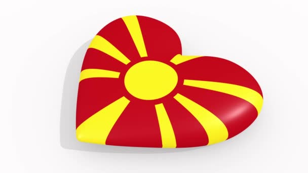 Heart in colors and symbols of Macedonia, loop