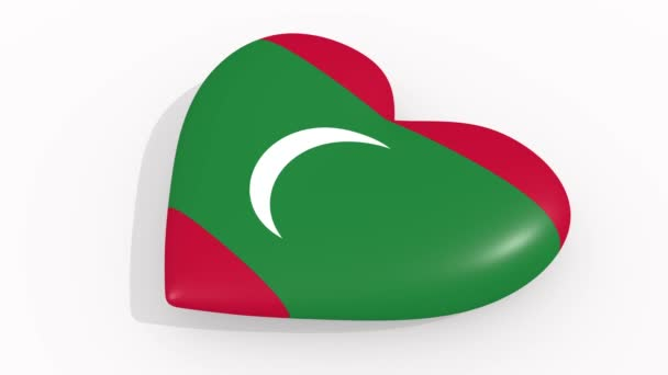 Heart in colors and symbols of Maldives, loop