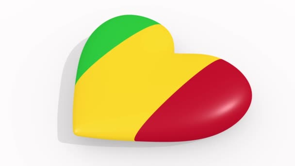 Heart in colors and symbols of Mali, loop