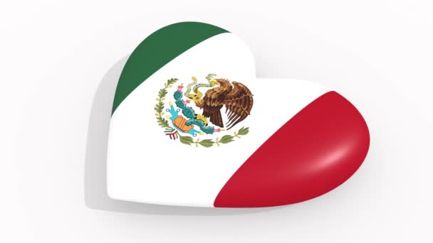 Heart in colors and symbols of Mexico, loop