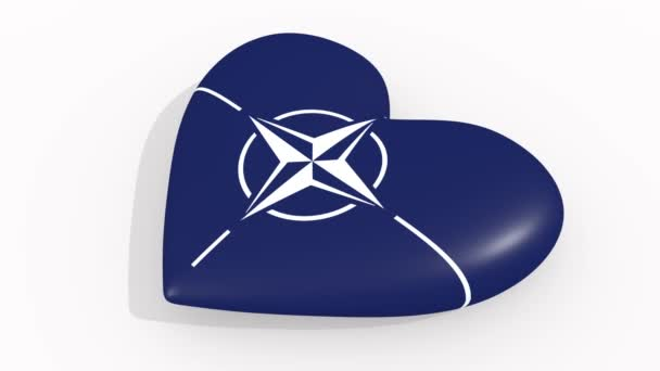 Heart in colors and symbols of NATO, loop