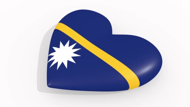Heart in colors and symbols of Nauru, loop