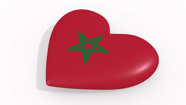 Heart in colors and symbols of Morocco, loop