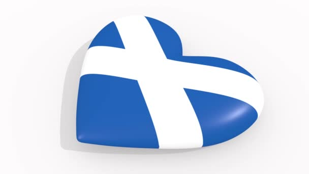 Heart in colors and symbols of Scotland, loop