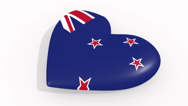 Heart in colors and symbols of New Zealand, loop