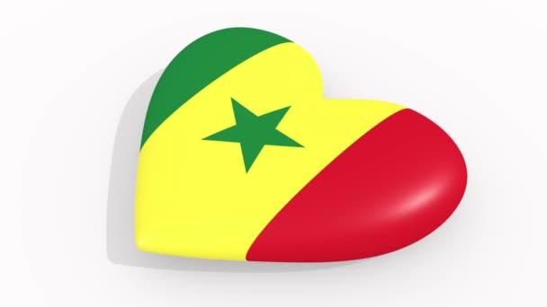 Heart in colors and symbols of Senegal, loop