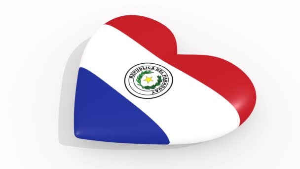 Heart in colors and symbols of Paraguay, loop