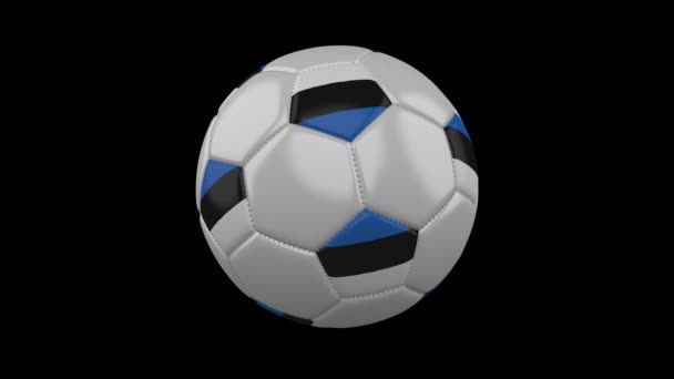 Soccer ball with flag Estonia, loop alpha