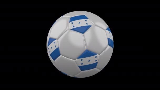 Soccer ball with flag Honduras, 4k with alpha, loop