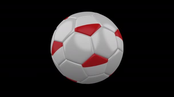 Soccer ball with flag Indonesia, loop, 4k with alpha