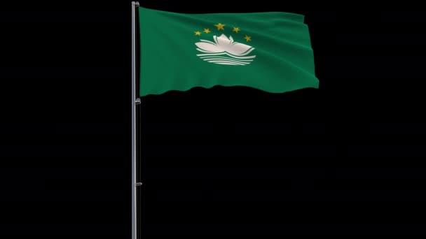 Macau zászlaja az átlátszó háttér, 4k ProRes 4444 felvételeket alfa
