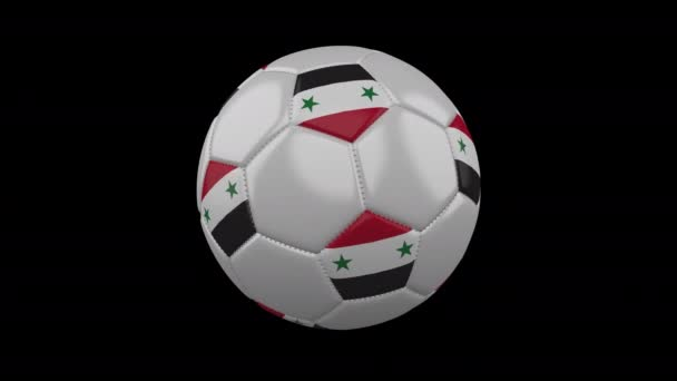 Soccer ball with flag Syria, alpha loop
