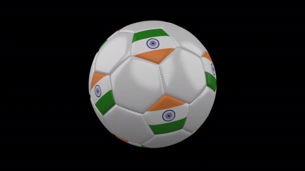 Fotbalová koule s vlajkou Indie, alfa smyčka