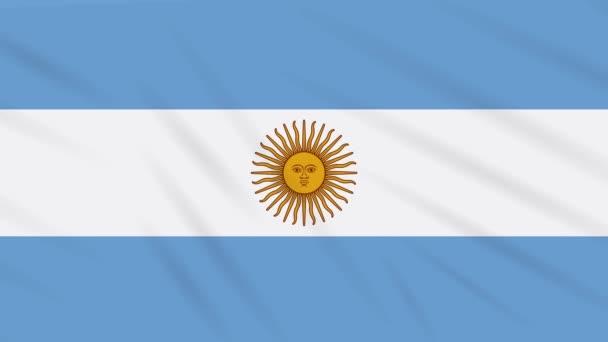 Argentina flag waving cloth, background loop