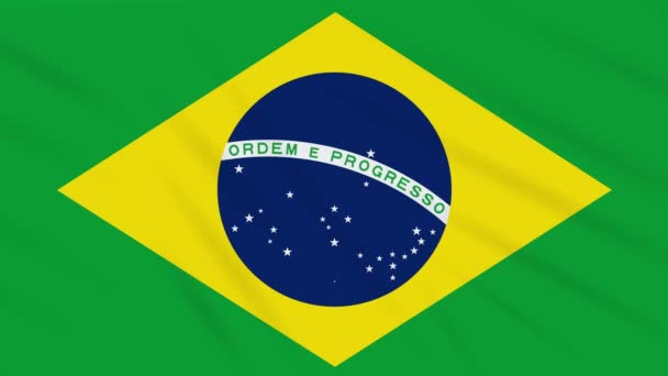 Brazil flag waving cloth, background loop