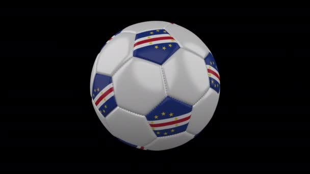 Soccer ball with flag Cape Verde loop 4k with alpha