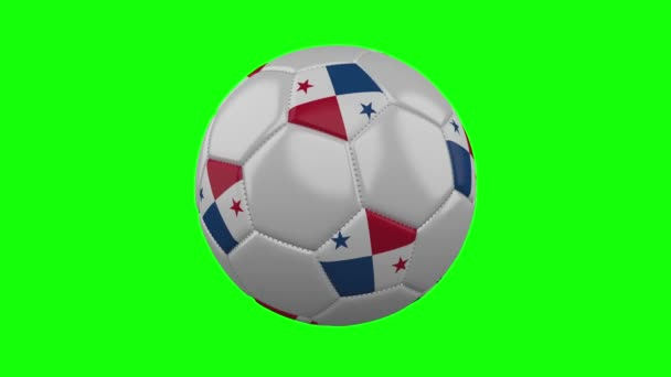 Futball-labda Panama zászló zöld chroma kulcs, hurok