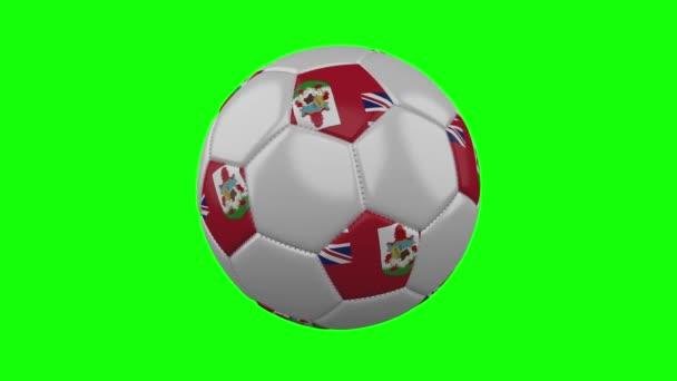 Fotbalový míč s Bermudy na zeleném klíči, smyčka