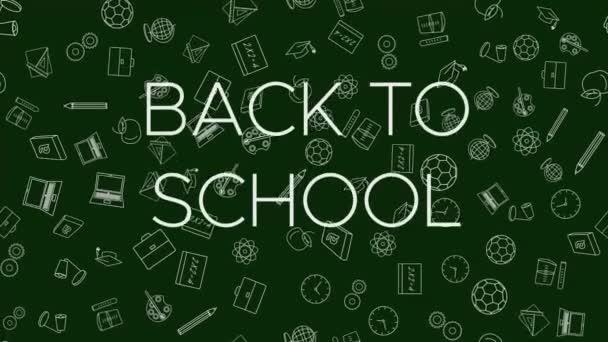 Hlava-zpět ke školním a školním dodávkám, smyčka