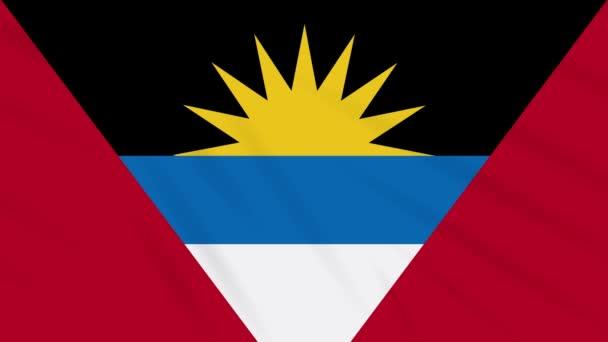 Antigua and Barbuda flag waving cloth, loop