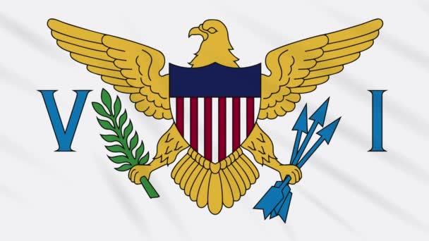 Virgin-szigetek zászló integetett ruhával, háttér hurok