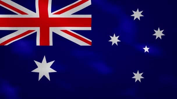 Australian dense flag fabric wavers, background loop